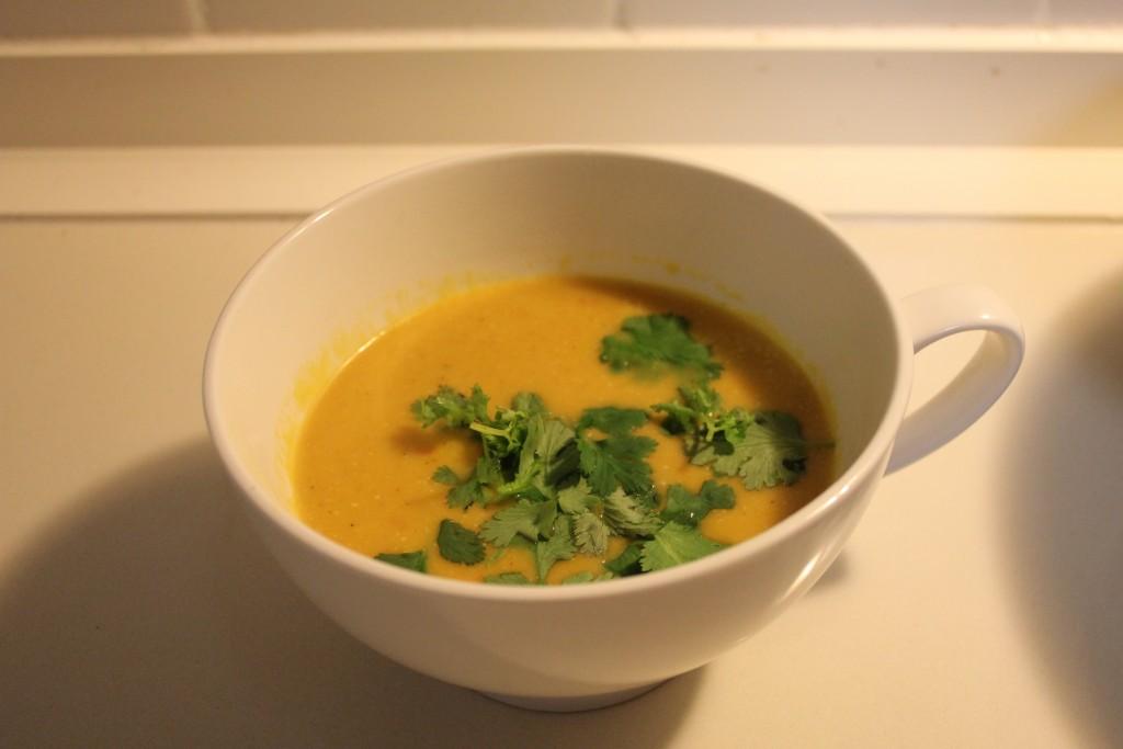 Thai red pumpkin soup