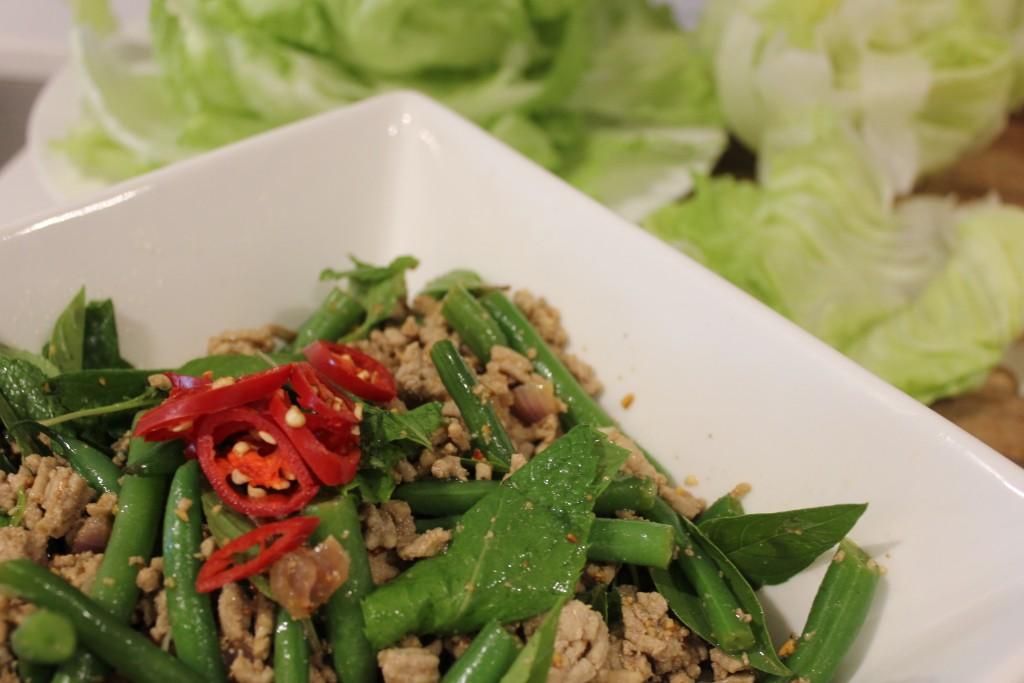 Healthy Thai pork larb