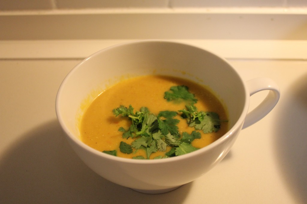 Thai red pumpkin soup