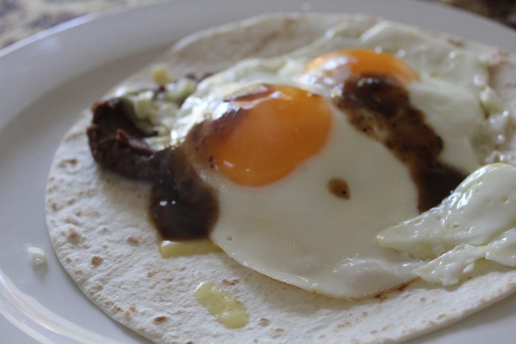 Super quick breakfast burrito