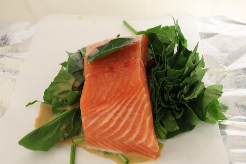 Simple salmon parcels