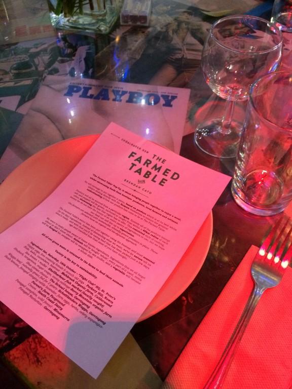 A secret dinner at The Farmed Table