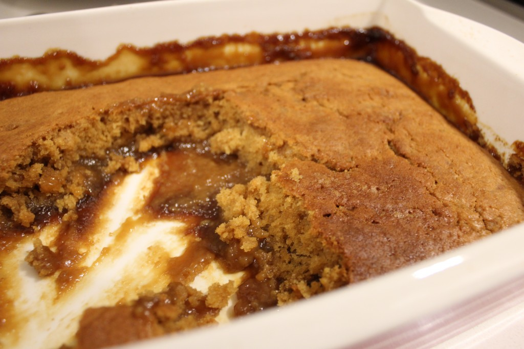Golden syrup self saucing pudding