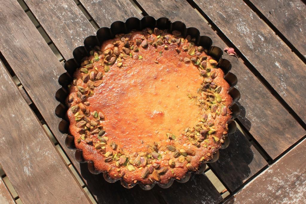 Persian love cake with fresh nutmeg